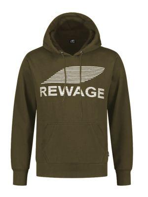 REWAGE Hoodie Premium Heavy Kwaliteit - Heren - Olijfgroen