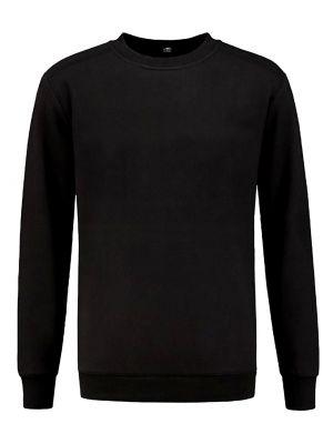 REWAGE Sweater Ronde Hals Premium Heavy Kwaliteit - Heren - Zwart